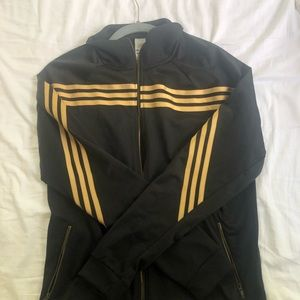 Adidas Track Jacket— Black and gold